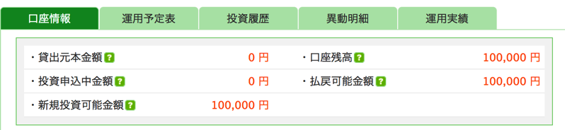 maneoに入金した10万円