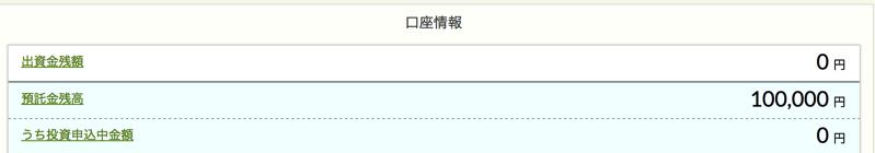 クラウドクレジットに入金した10万円