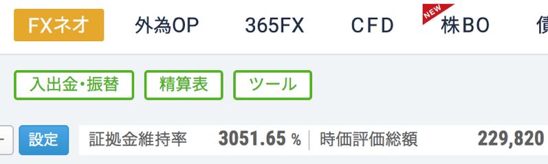 トルコリラ売りスワップでの維持率:gmoクリック証券