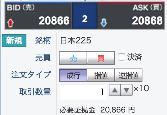gmoのcfdの日本225