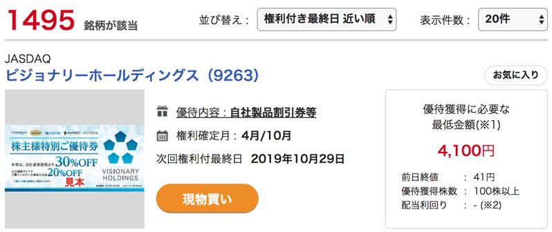 4000円で株主優待