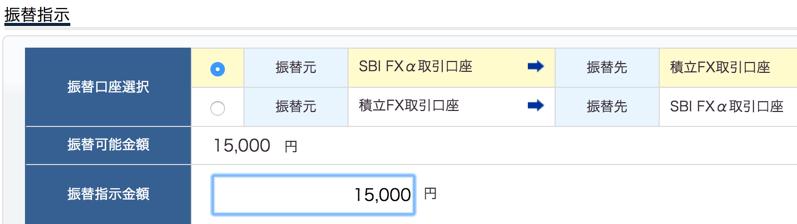 sbiの積立fx口座に資金移動