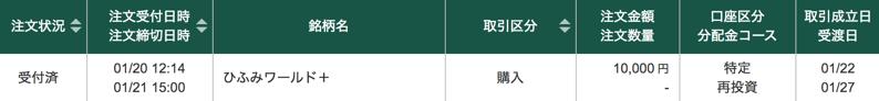 ひふみで松井証券ポイント獲得