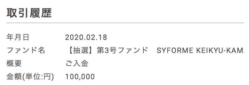syla fundingで入金