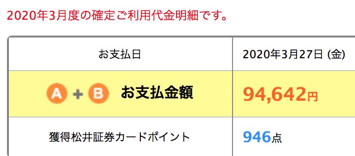 松井証券カードでポイント
