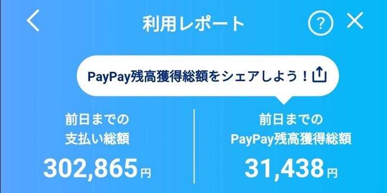 paypayポイント獲得利益