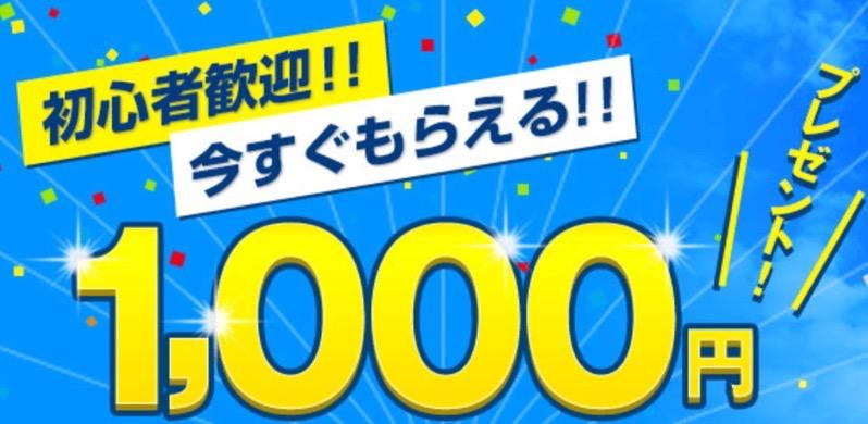 マネーパートナーズで1000円